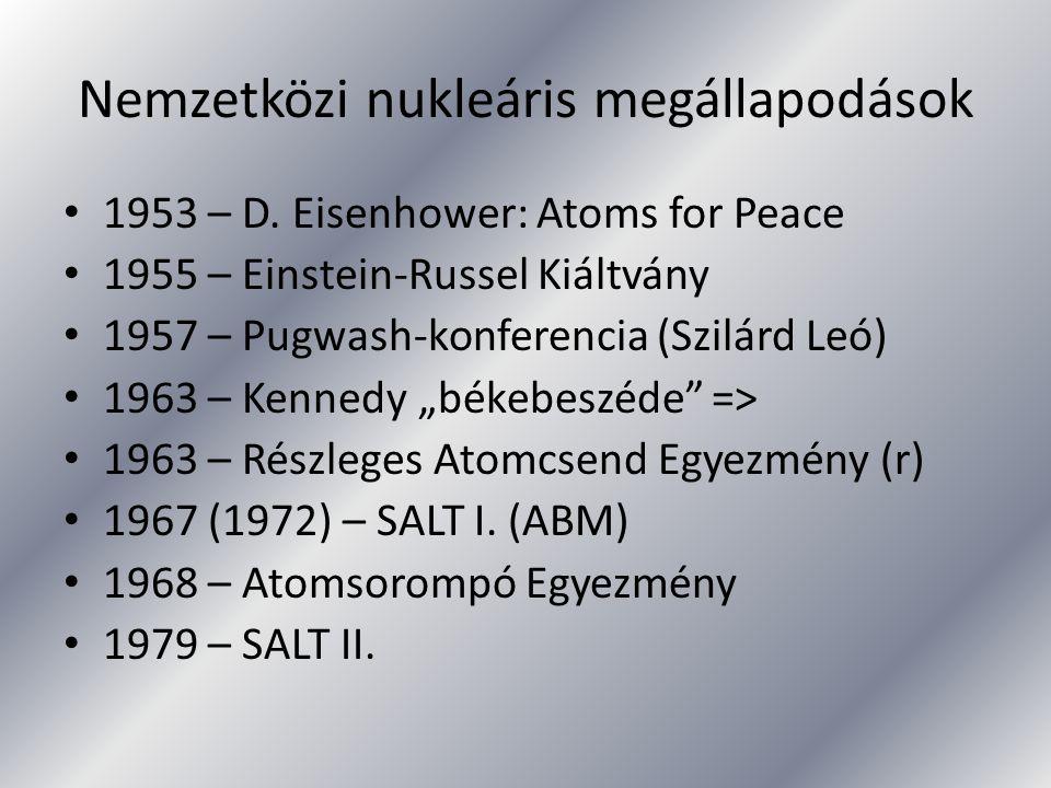 Nemzetközi nukleáris megállapodások