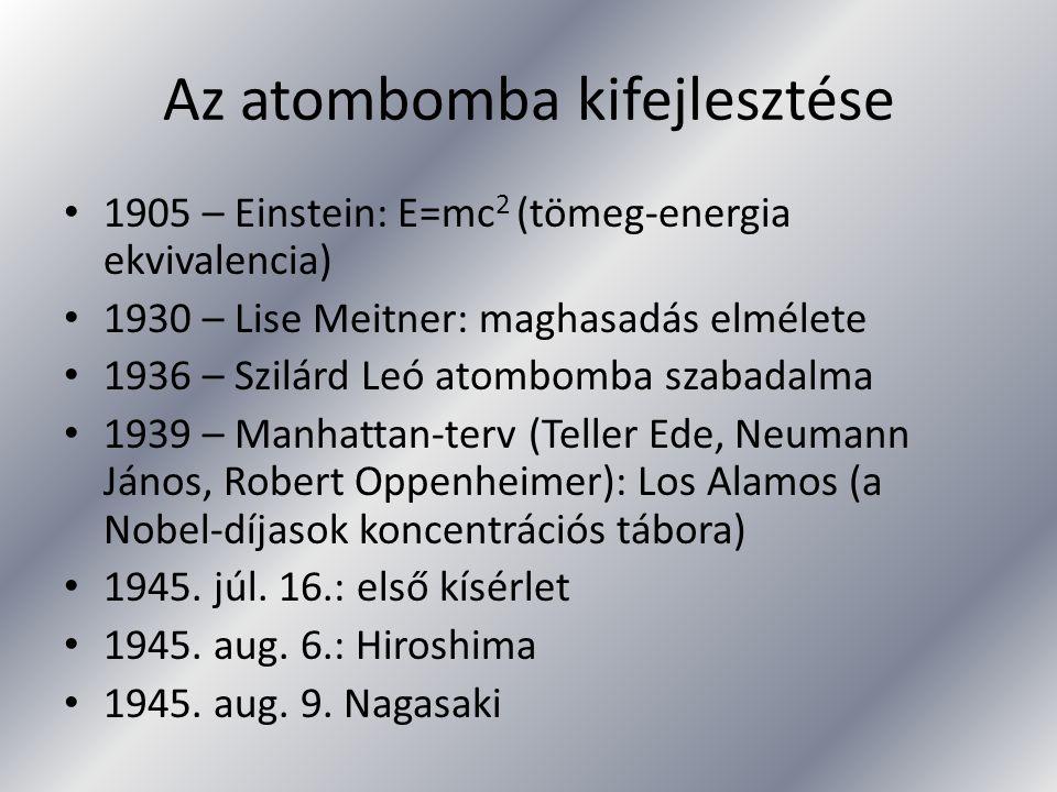 Az atombomba kifejlesztése
