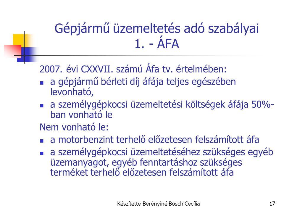 Gépjármű üzemeltetés adó szabályai 1. - ÁFA