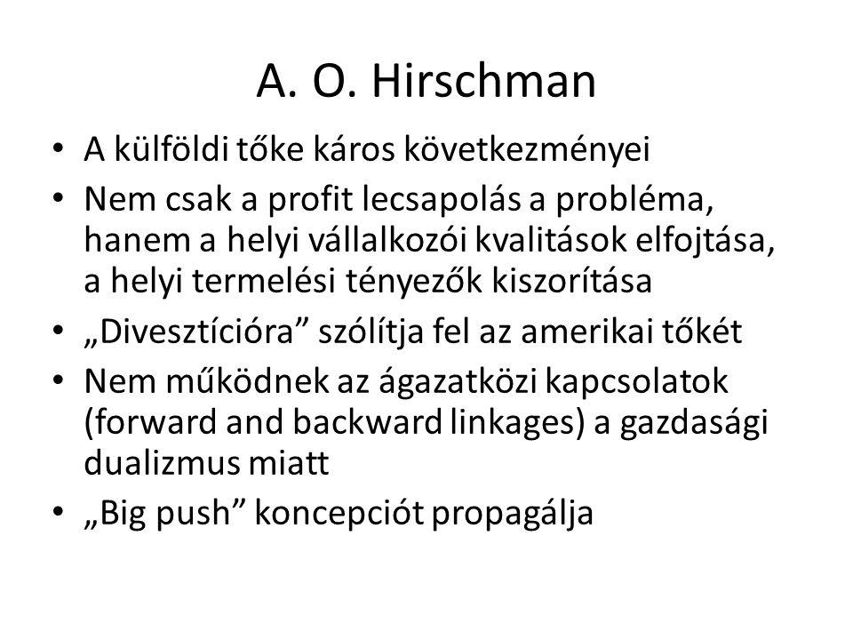 A. O. Hirschman A külföldi tőke káros következményei