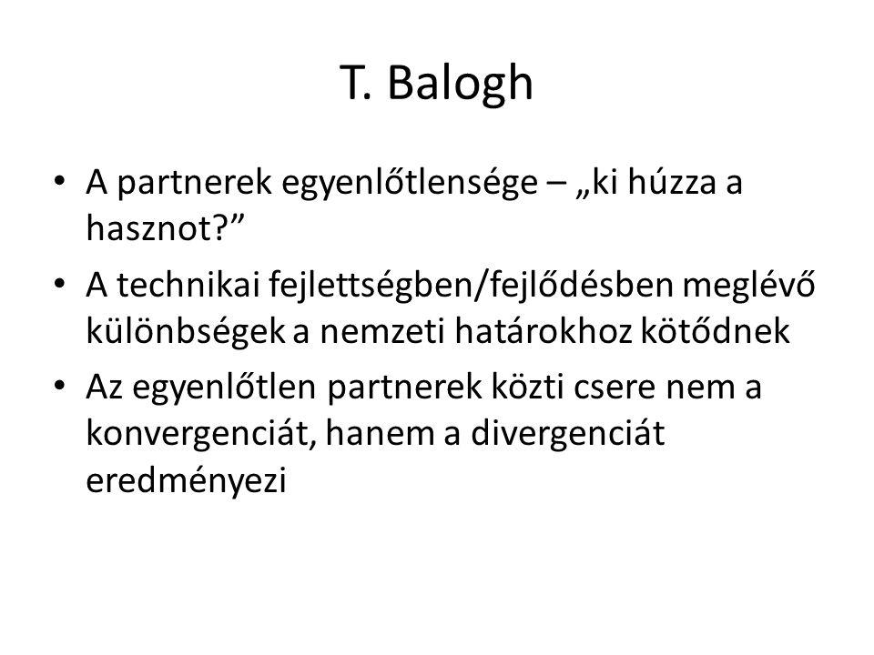 """T. Balogh A partnerek egyenlőtlensége – """"ki húzza a hasznot"""