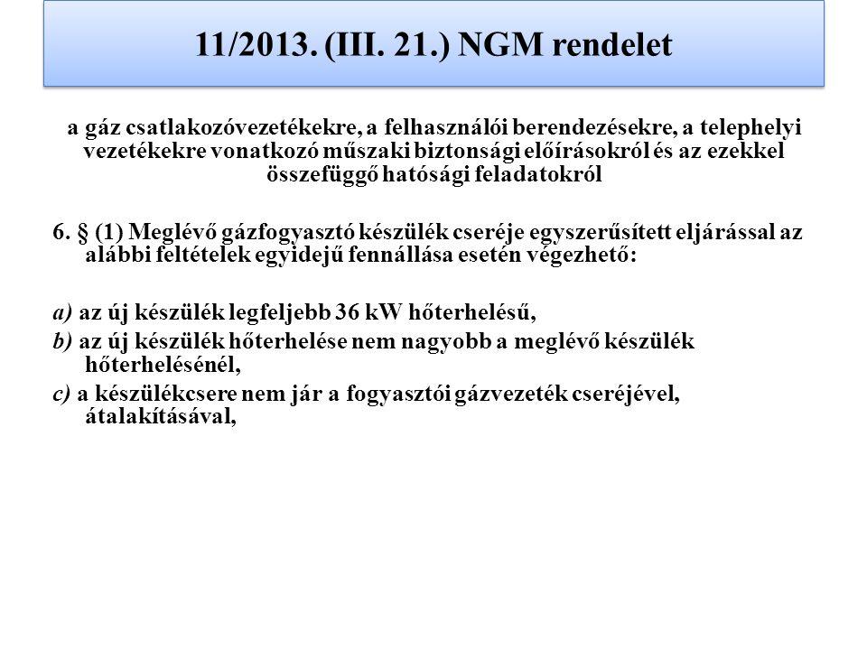 11/2013. (III. 21.) NGM rendelet