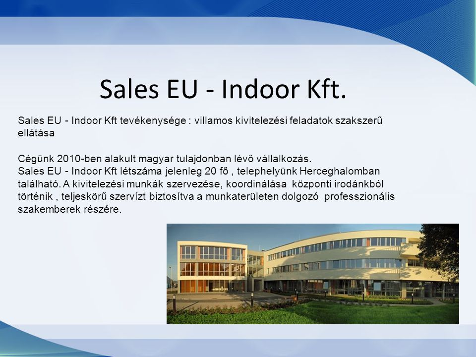Sales EU - Indoor Kft.