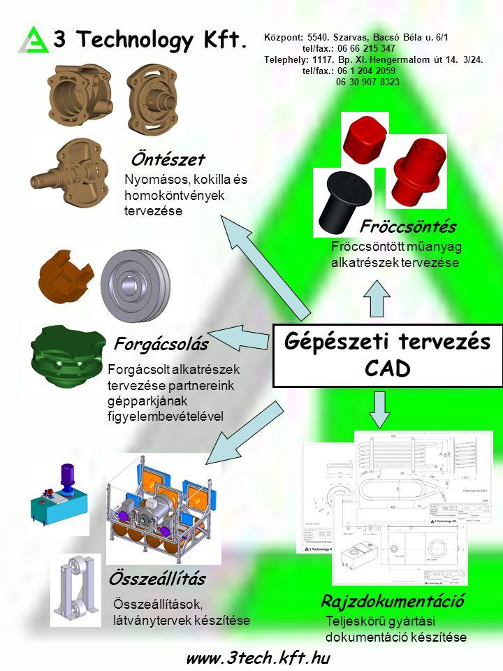 Gépészeti tervezés CAD