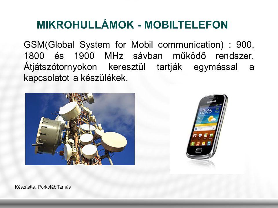 MIKROHULLÁMOK - MOBILTELEFON