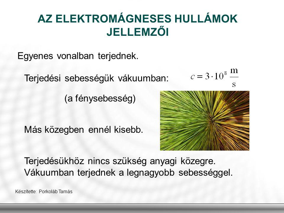 AZ ELEKTROMÁGNESES HULLÁMOK