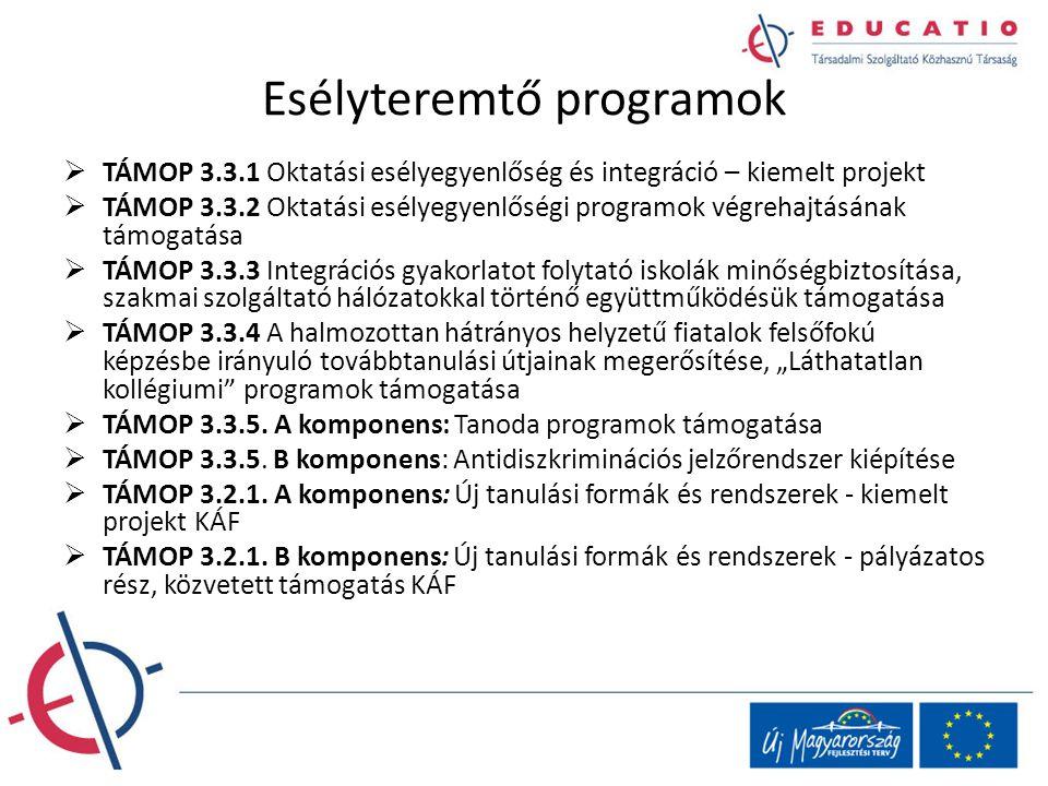 Esélyteremtő programok