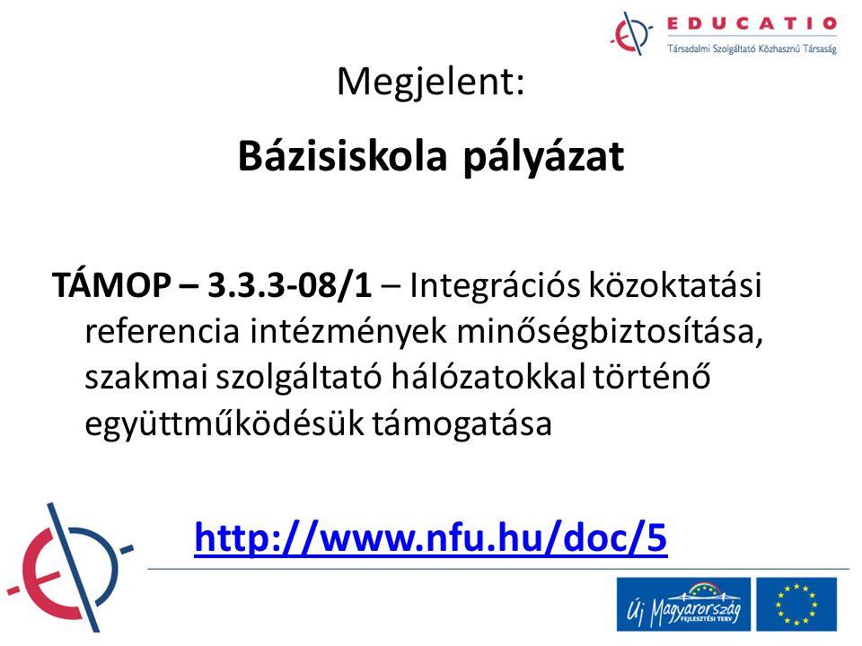 Bázisiskola pályázat Megjelent: http://www.nfu.hu/doc/5