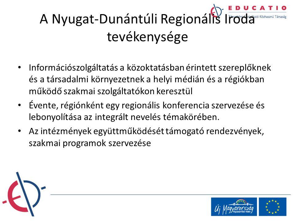 A Nyugat-Dunántúli Regionális Iroda tevékenysége