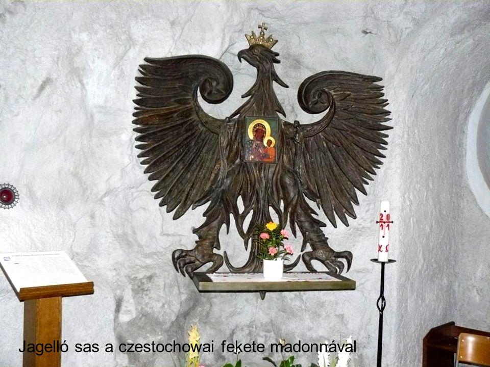 Jagelló sas a czestochowai fekete madonnával