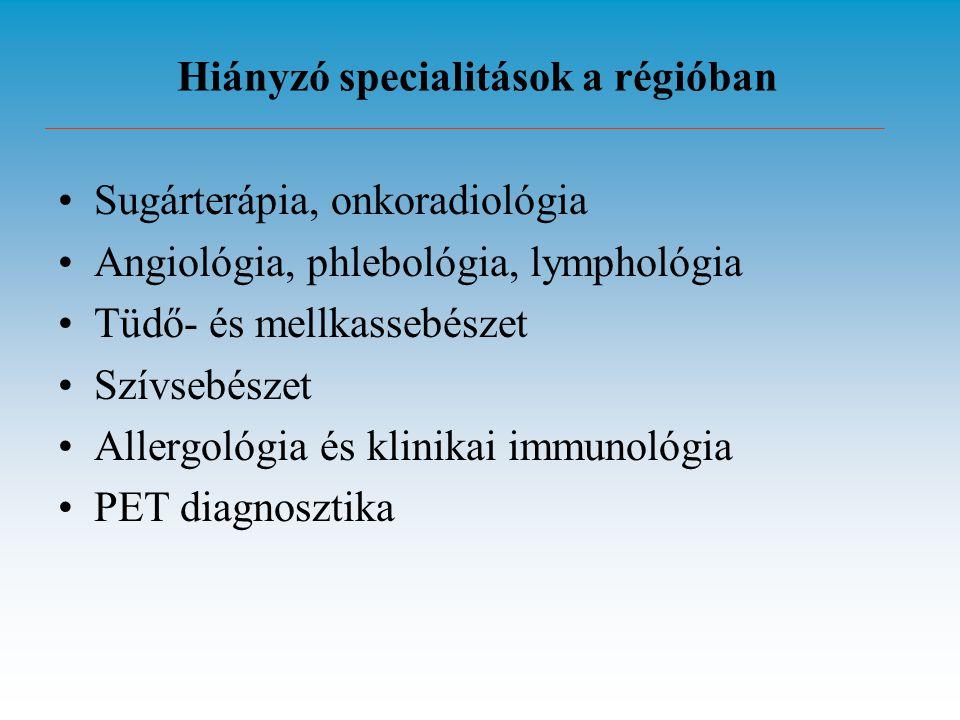 Hiányzó specialitások a régióban