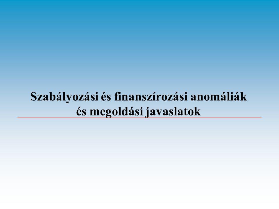 Szabályozási és finanszírozási anomáliák és megoldási javaslatok