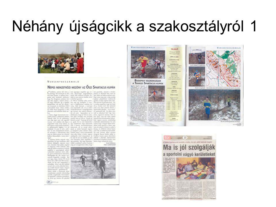 Néhány újságcikk a szakosztályról 1