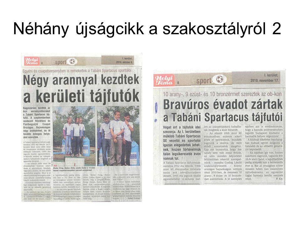 Néhány újságcikk a szakosztályról 2