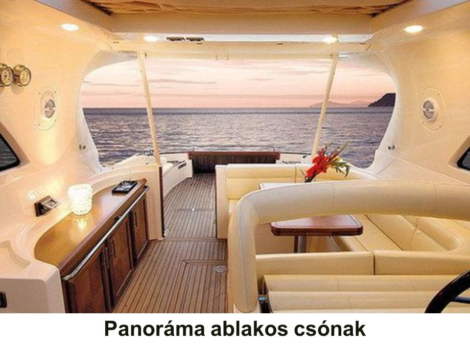 Panoráma ablakos csónak