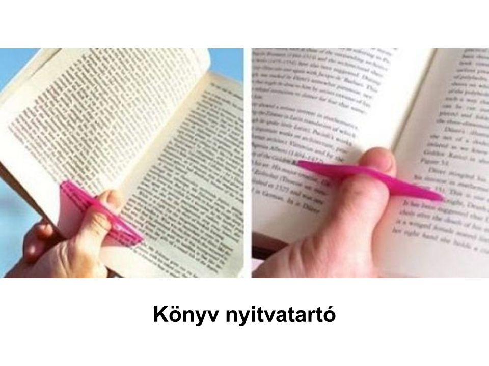 Könyv nyitvatartó
