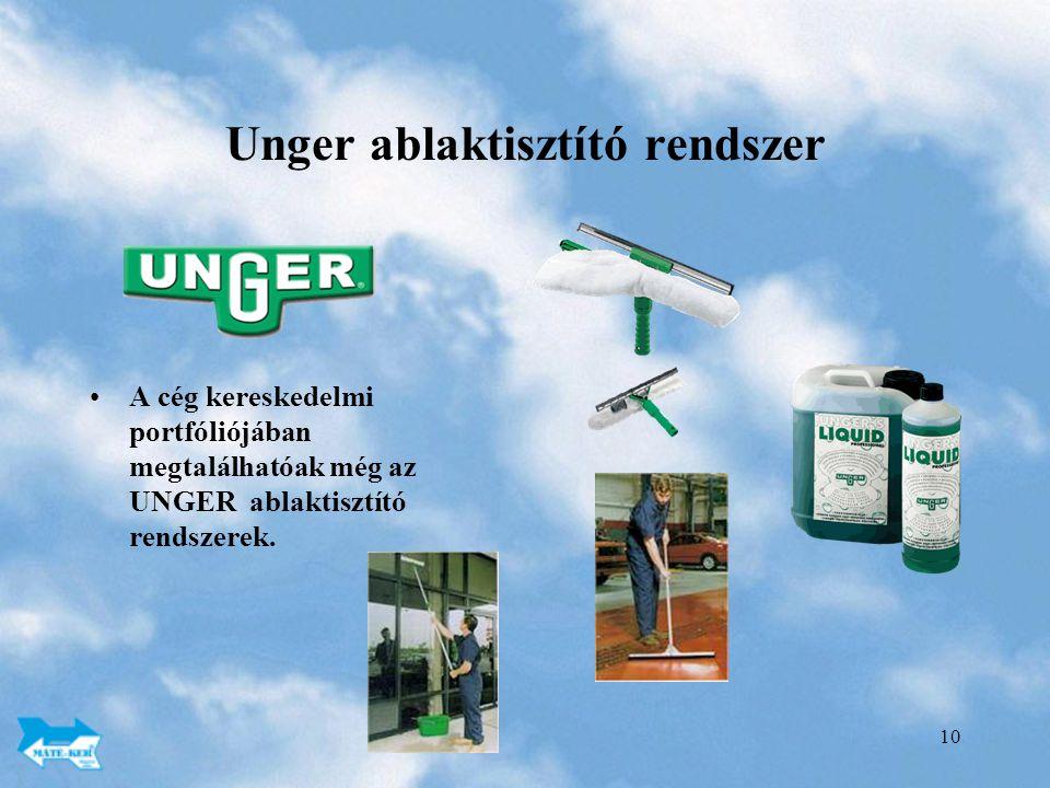 Unger ablaktisztító rendszer
