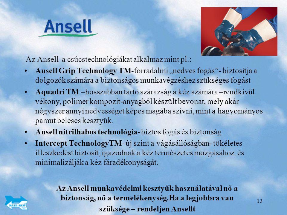Ansell nitrilhabos technológia- biztos fogás és biztonság