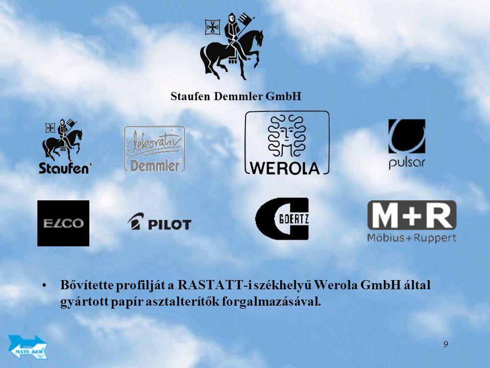 Staufen Demmler GmbH Bővítette profilját a RASTATT-i székhelyű Werola GmbH által gyártott papír asztalterítők forgalmazásával.