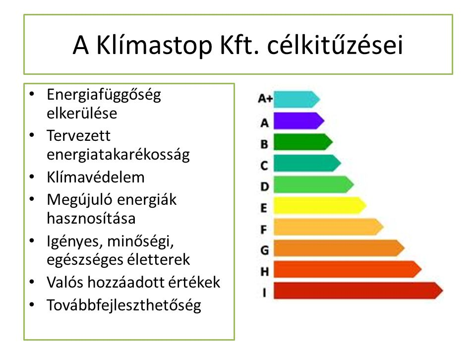 A Klímastop Kft. célkitűzései