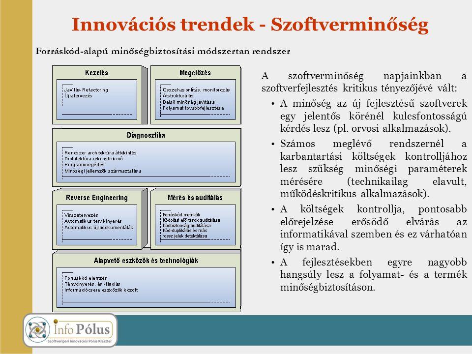 Innovációs trendek - Szoftverminőség