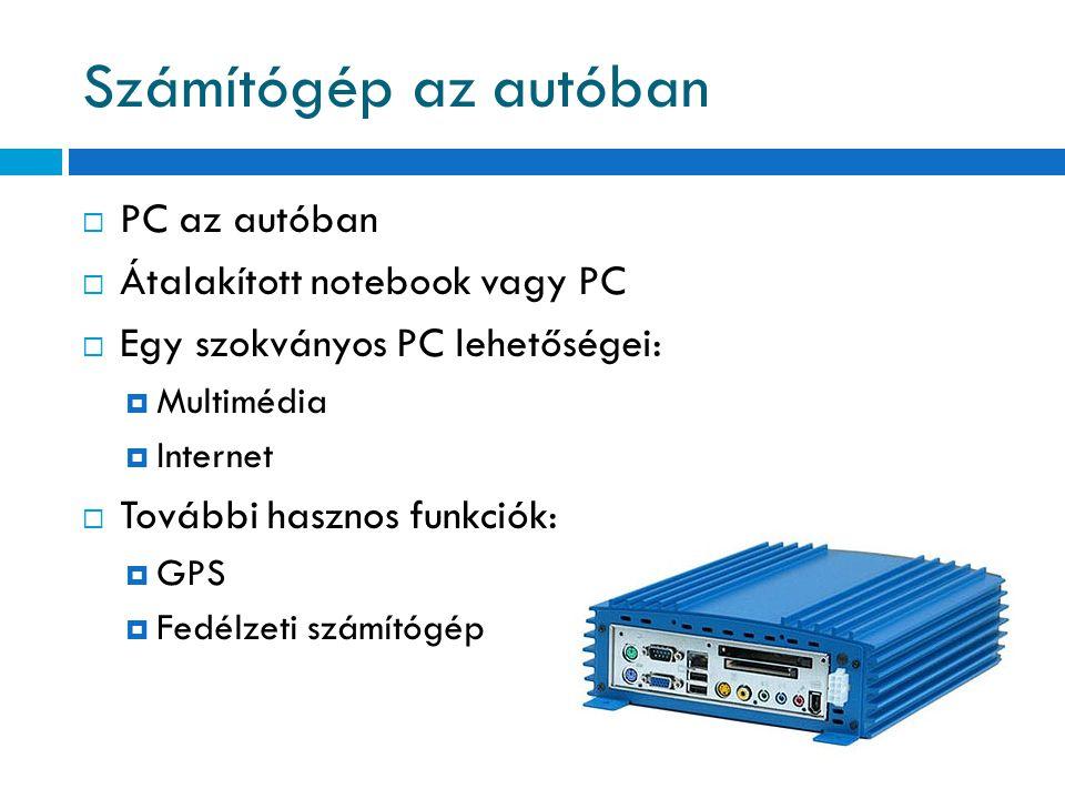 Számítógép az autóban PC az autóban Átalakított notebook vagy PC