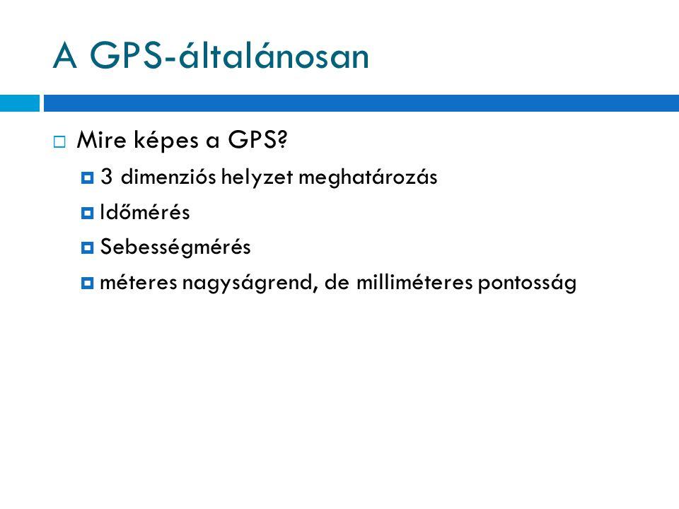 A GPS-általánosan Mire képes a GPS 3 dimenziós helyzet meghatározás