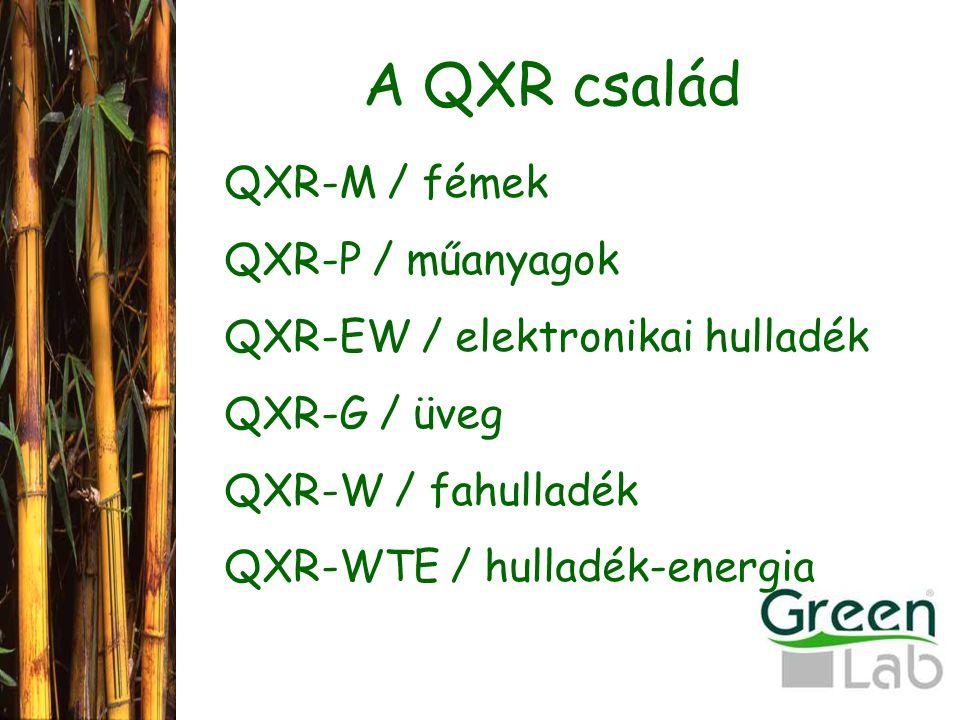 A QXR család QXR-M / fémek QXR-P / műanyagok