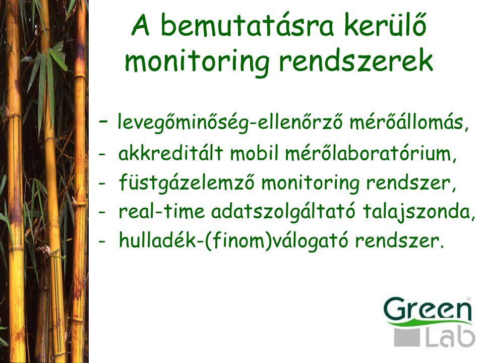 A bemutatásra kerülő monitoring rendszerek