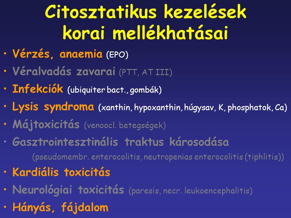 Citosztatikus kezelések korai mellékhatásai