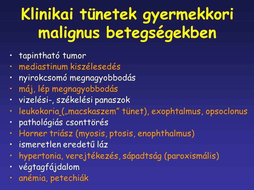 Klinikai tünetek gyermekkori malignus betegségekben
