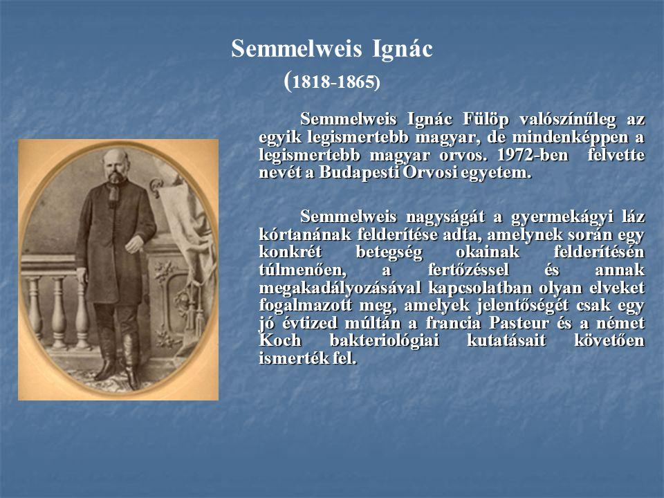 Semmelweis Ignác (1818-1865)