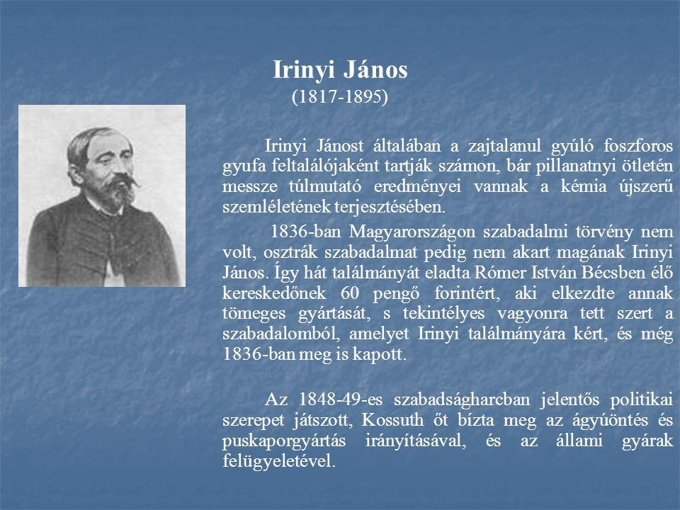 Irinyi János (1817-1895)
