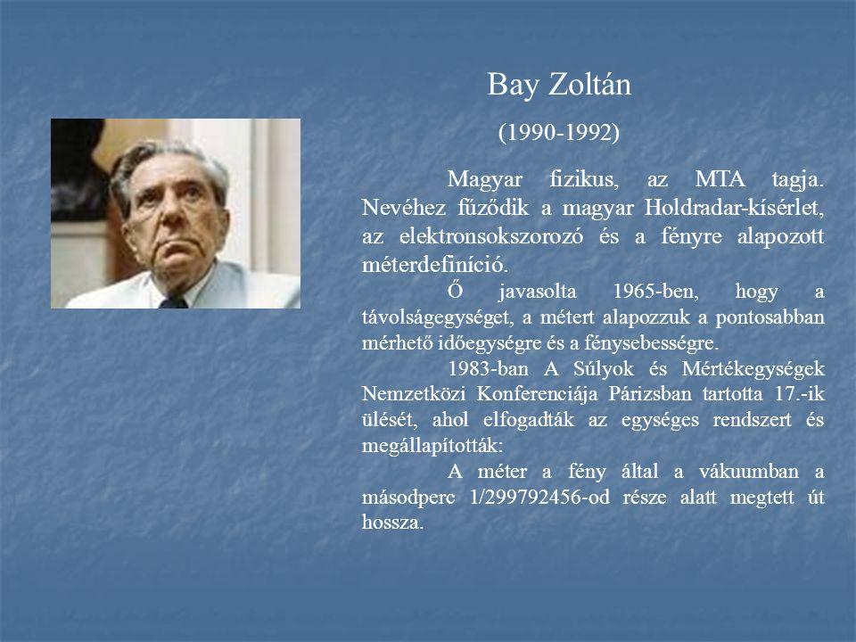Bay Zoltán (1990-1992)