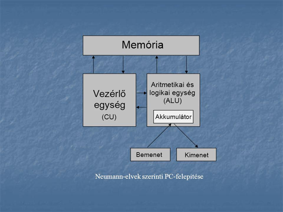 Neumann-elvek szerinti PC-felepitése