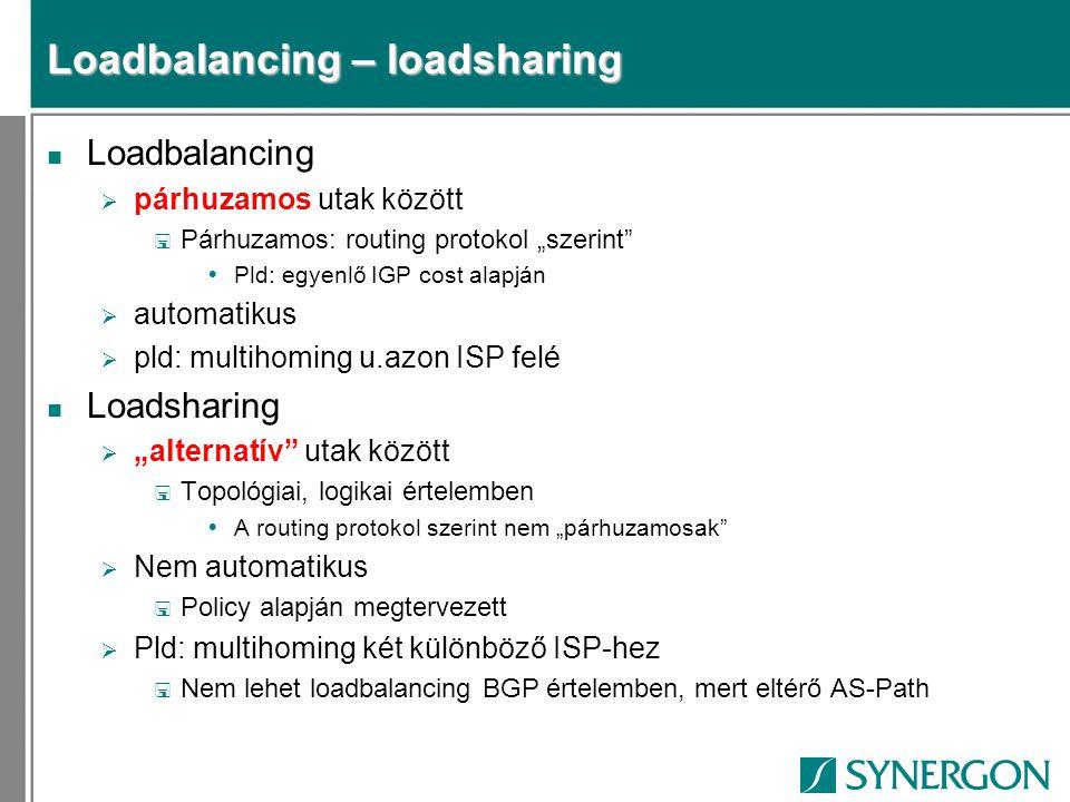Loadbalancing – loadsharing