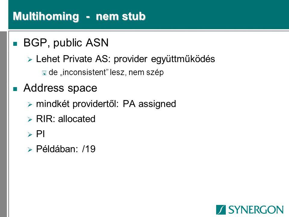 Multihoming - nem stub BGP, public ASN Address space