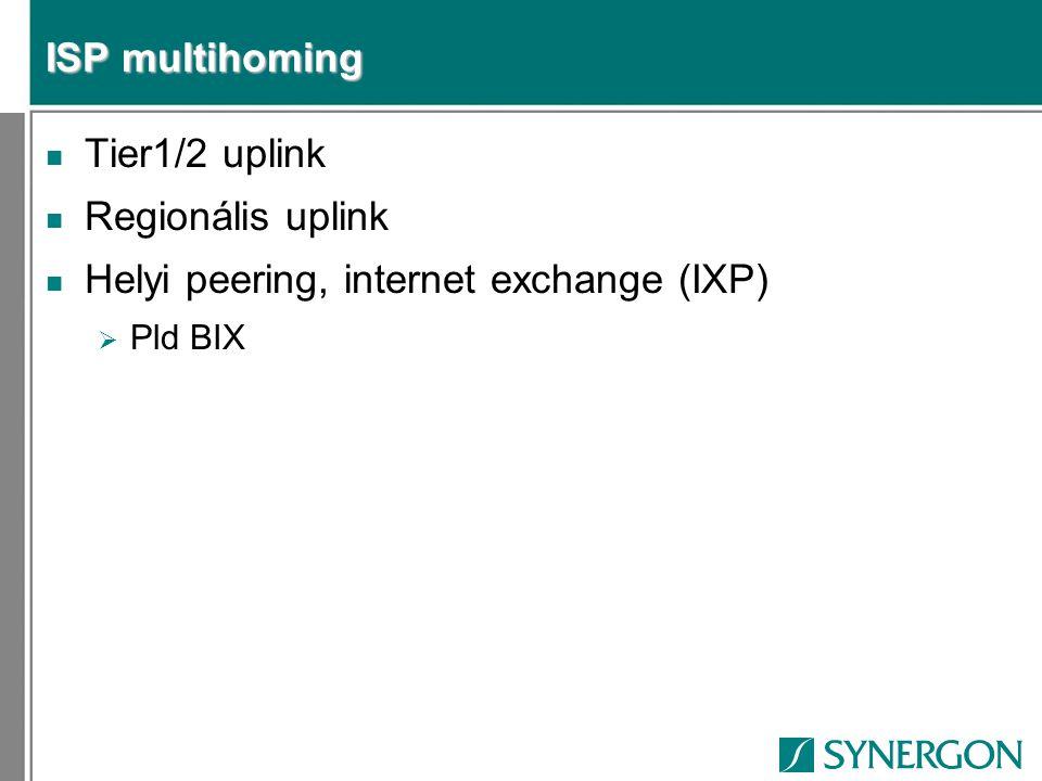 Helyi peering, internet exchange (IXP)