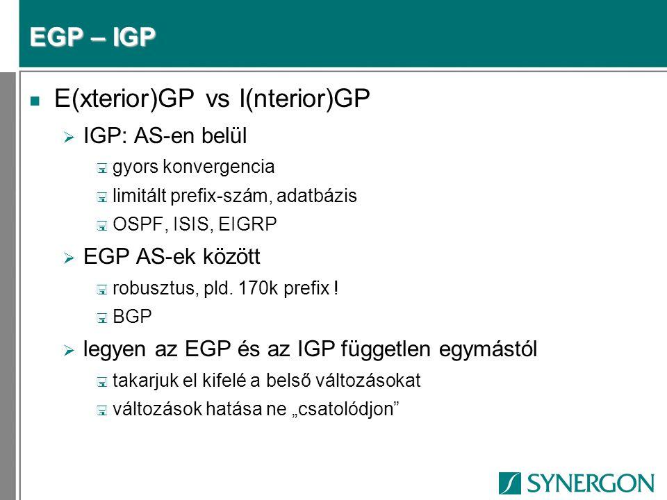E(xterior)GP vs I(nterior)GP
