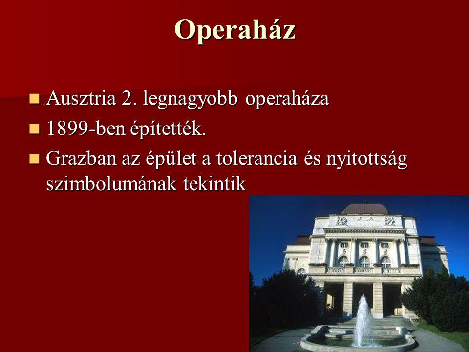 Operaház Ausztria 2. legnagyobb operaháza 1899-ben építették.