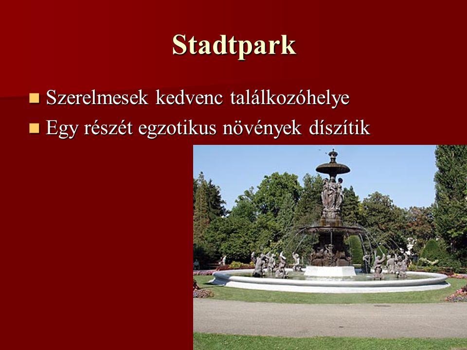 Stadtpark Szerelmesek kedvenc találkozóhelye