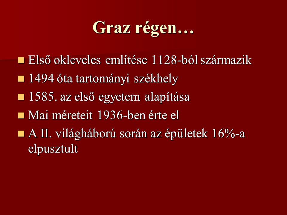 Graz régen… Első okleveles említése 1128-ból származik