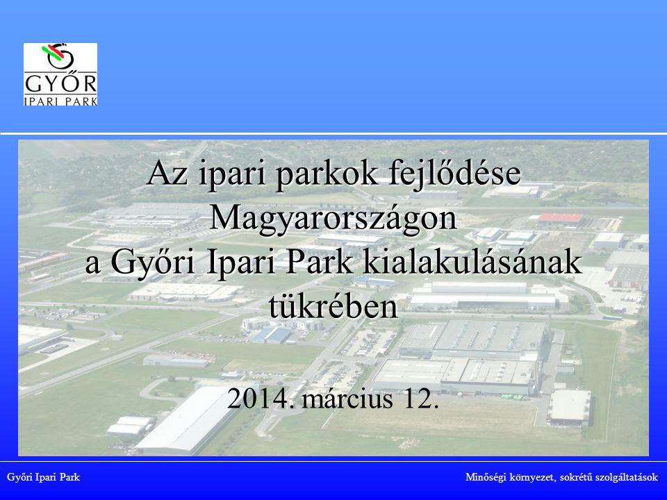 Az ipari parkok fejlődése Magyarországon a Győri Ipari Park kialakulásának tükrében