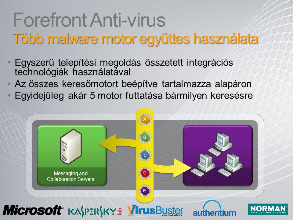 Forefront Anti-virus Több malware motor együttes használata