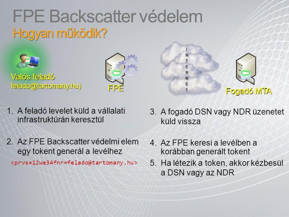 FPE Backscatter védelem Hogyan működik