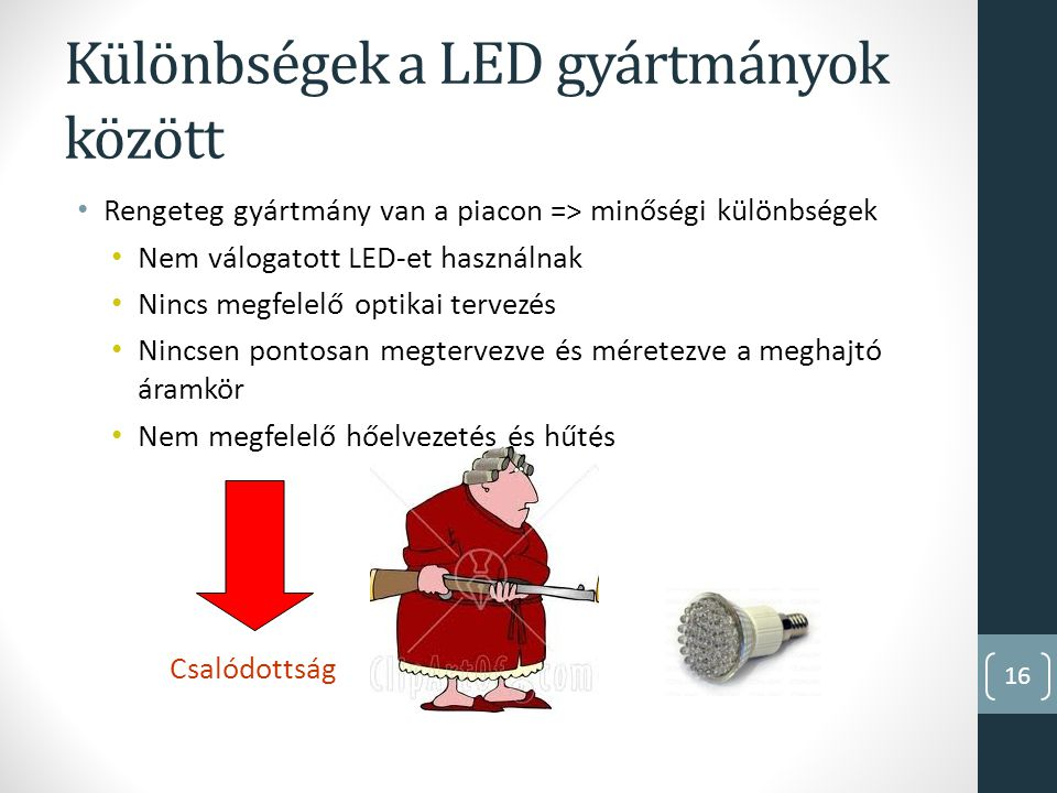 Különbségek a LED gyártmányok között