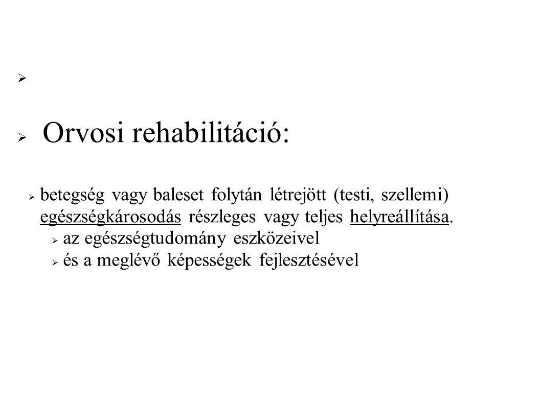 Orvosi rehabilitáció: