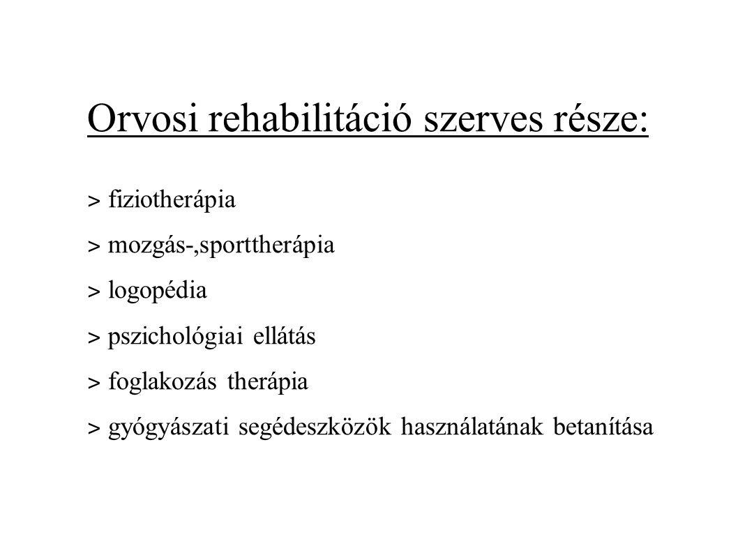 Orvosi rehabilitáció szerves része: