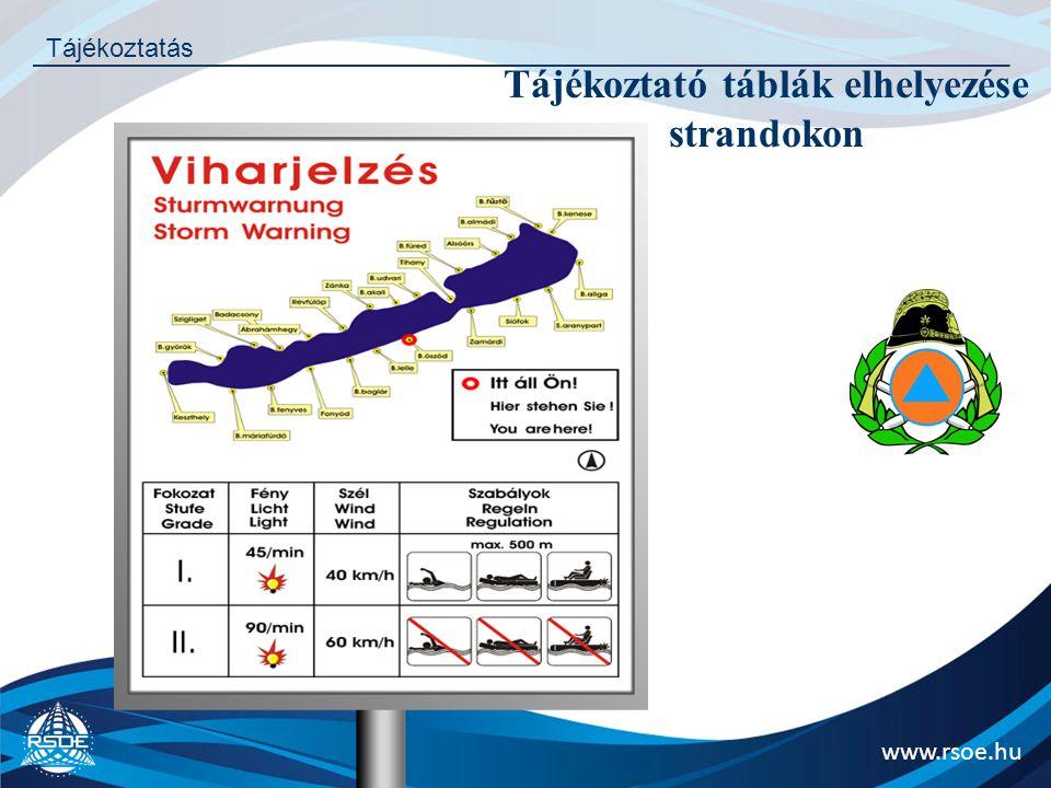 Tájékoztató táblák elhelyezése strandokon