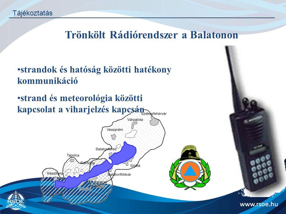 Trönkölt Rádiórendszer a Balatonon